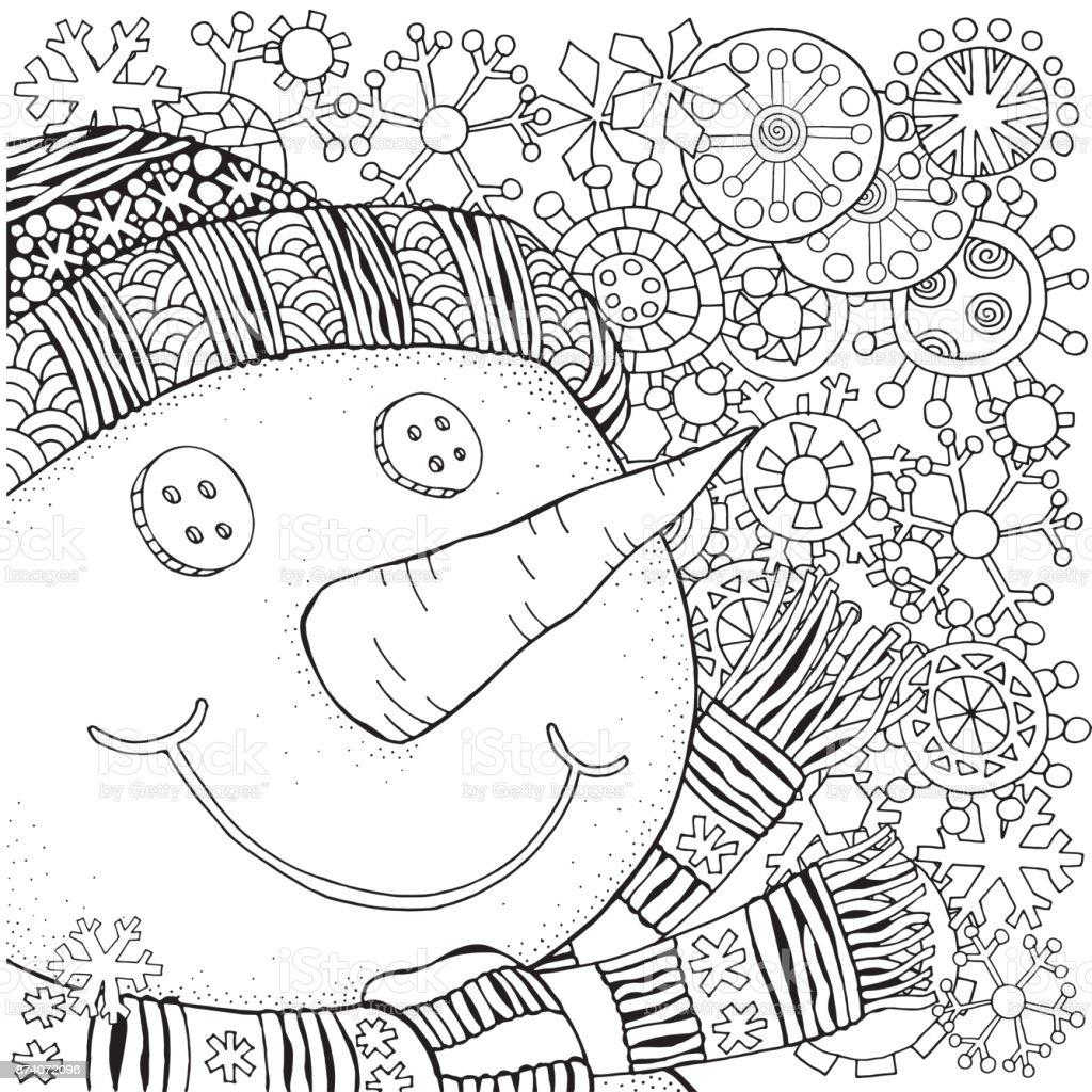 Ilustracion De Alegre Muneco De Nieve Y Copos De Nieve Invierno Nieve Trineo Zanahoria Botones Feliz Navidad Feliz Ano Nuevo Modelo Para Libro De Colorear De Adultos Blanco Y Negro Y Mas Dibujo para colorear muñecos de nieve > muñeco de nieve. ilustracion de alegre muneco de nieve y copos de nieve invierno nieve trineo zanahoria botones feliz navidad feliz ano nuevo modelo para libro de colorear de adultos blanco y negro y mas