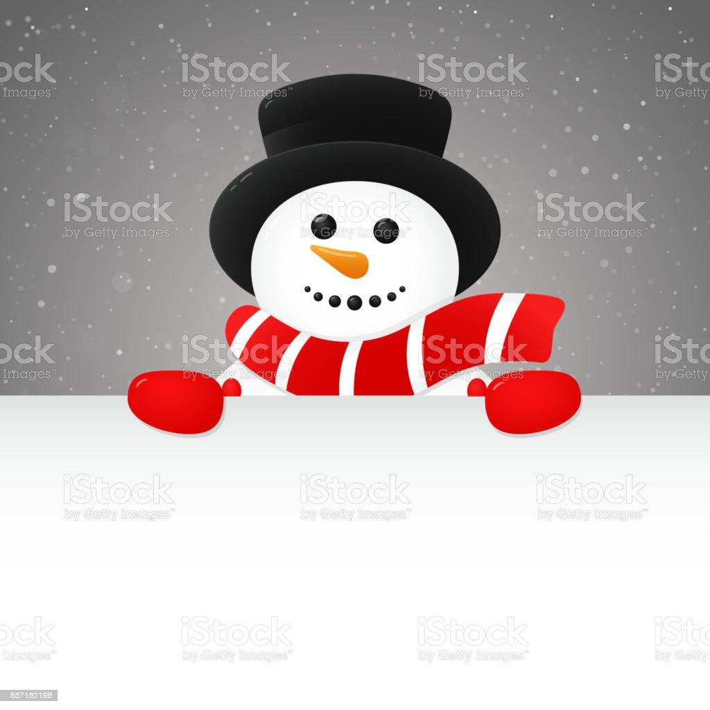 Joyeux bonhomme de neige - concept d'affiche avec fond. Vector. - Illustration vectorielle