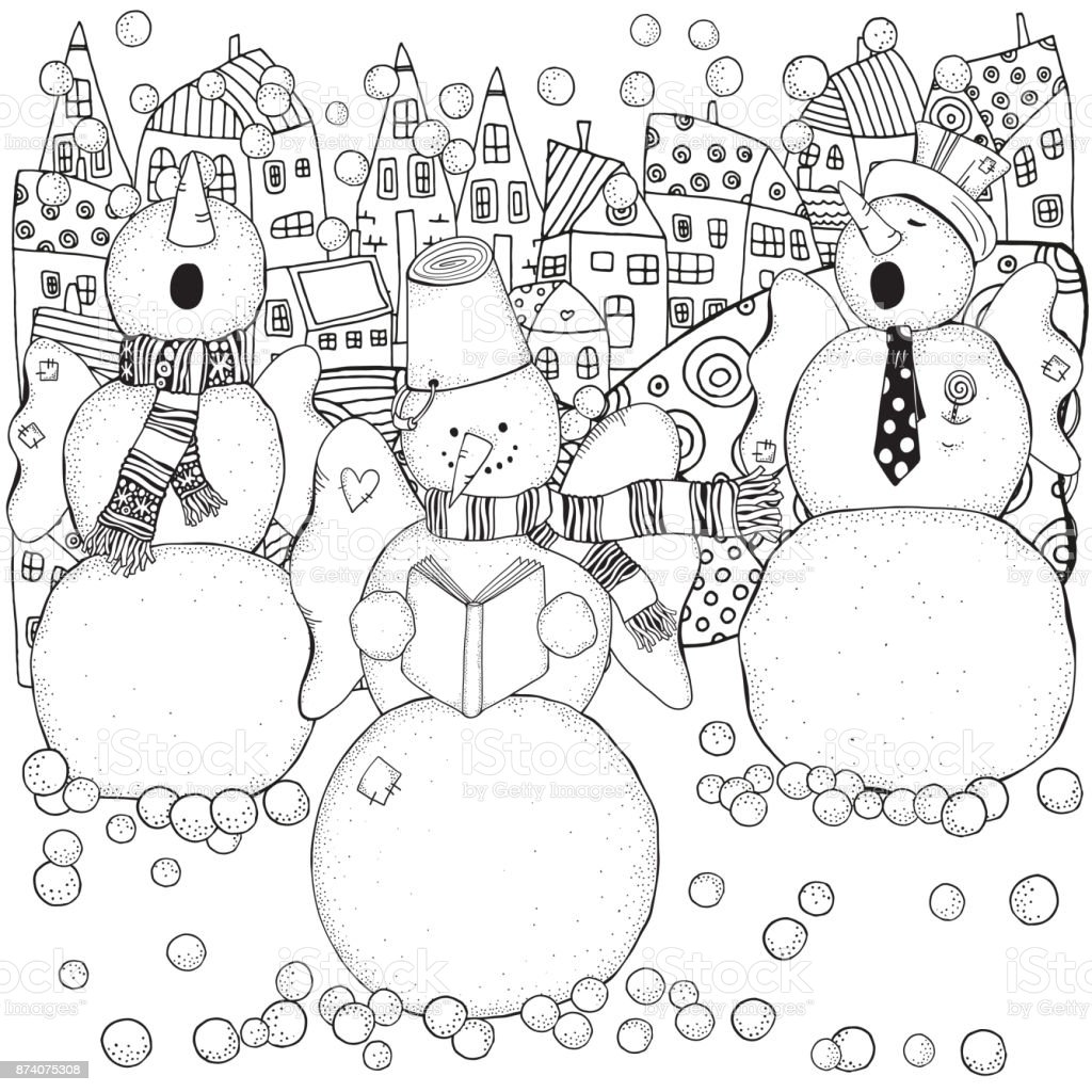 陽気な雪だるまは歌を歌います冬雪コーラスメリー クリスマス新年