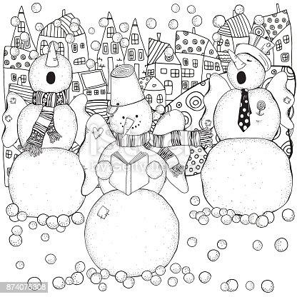istock Libro para colorear, niños Navidad coro 878239042 istock Libro ...