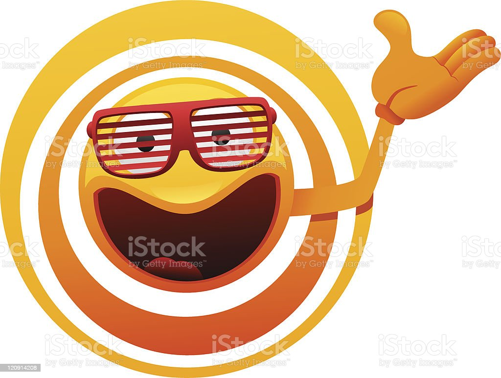 cheerful sun character showing royalty-free cheerful sun character showing stock vector art & more images of anthropomorphic smiley face