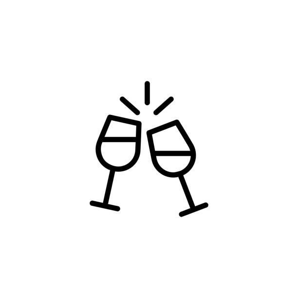 シャンパン フルート アイコンを応援 - 乾杯点のイラスト素材/クリップアート素材/マンガ素材/アイコン素材