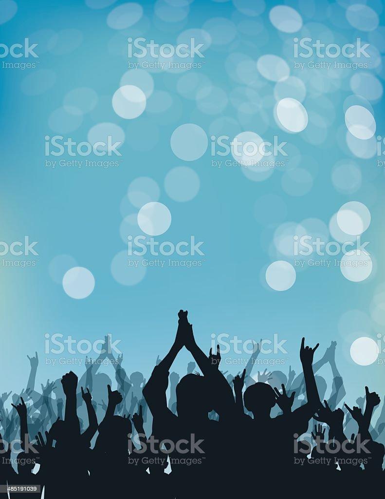 Cheering Crowd - Illustration vector art illustration