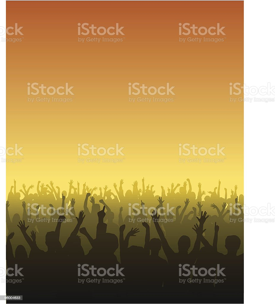 Cheering Fans royalty-free stock vector art