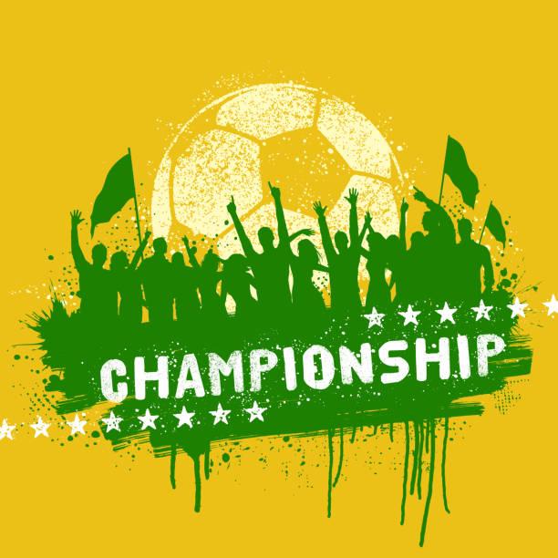 jubeln fußball-fans graffiti - - fussball fan stock-grafiken, -clipart, -cartoons und -symbole