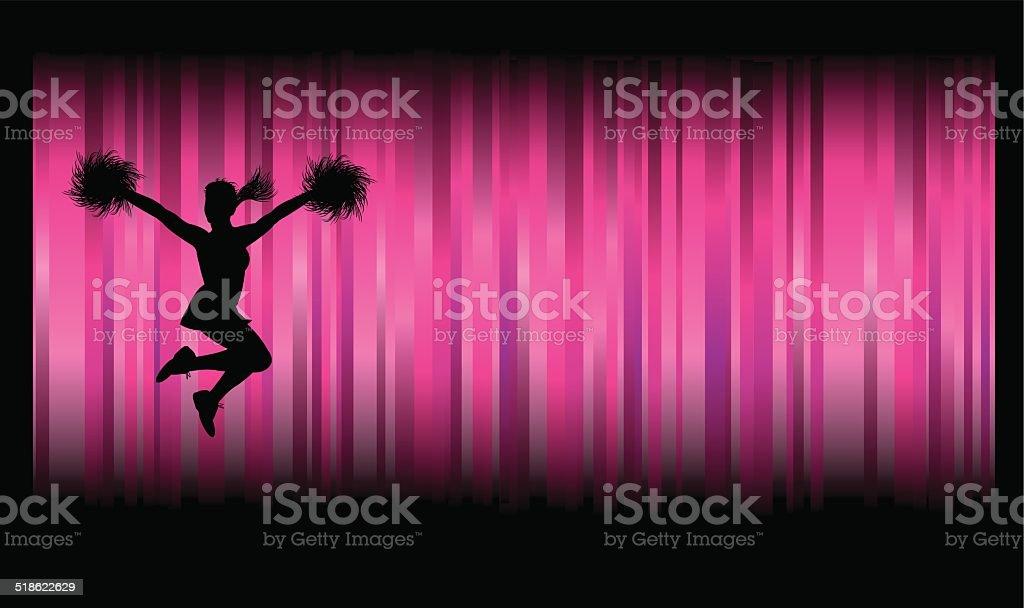 Cheerleader Background vector art illustration