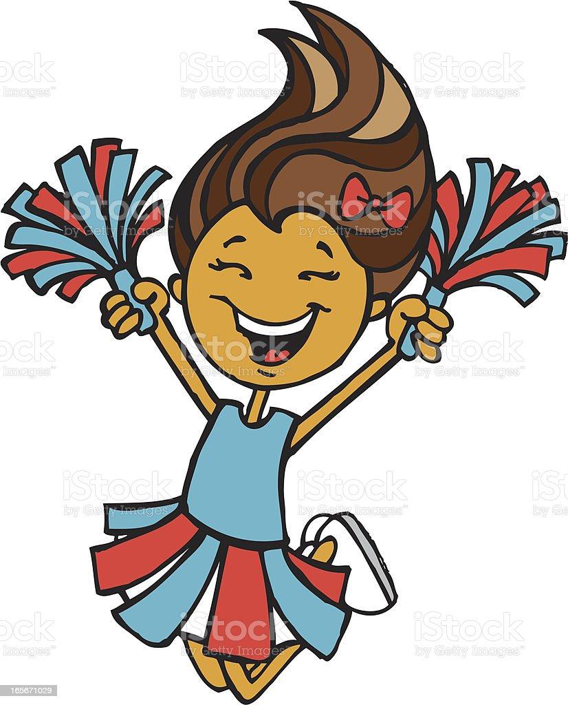 Cheerleader - Blue & Red royalty-free stock vector art