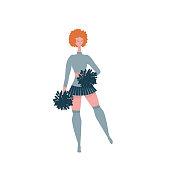 Cheerleader girl dancing