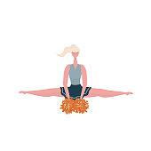 Cheerleader girl doing splits