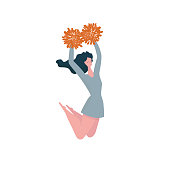 Cheerleader girl jump