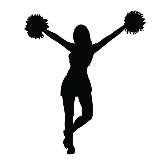 cheerleading vector top pom pom clip art vector graphics and illustrations 3331