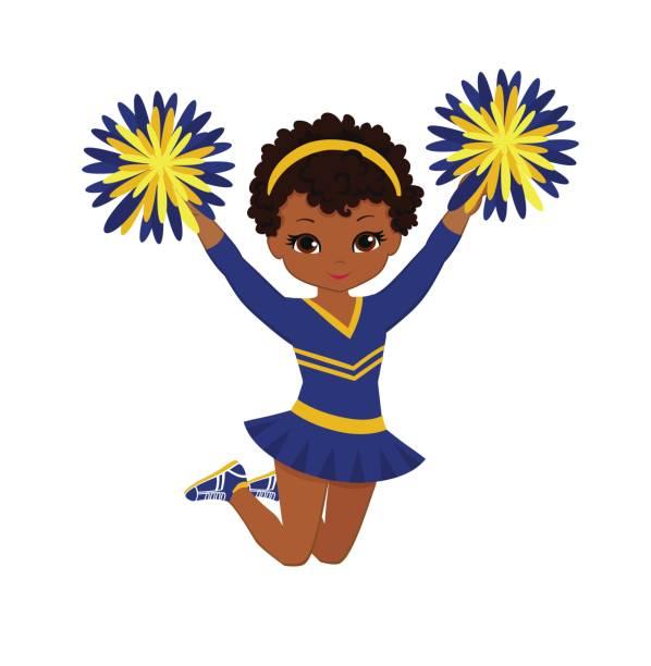 Best Cute Black Teenage Cheerleader With Pom Poms ...