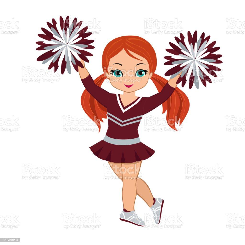 royalty free cute black teenage cheerleader with pom poms clip art rh istockphoto com clipart images of pom poms free clipart pom poms