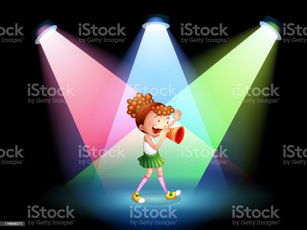 cheerleader in the stage royalty-free cheerleader in the stage stock vector art & more images of illustration