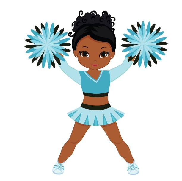 12 African American Cheerleading Images From The Past: Top 60 African American Cheerleader Clip Art, Vector