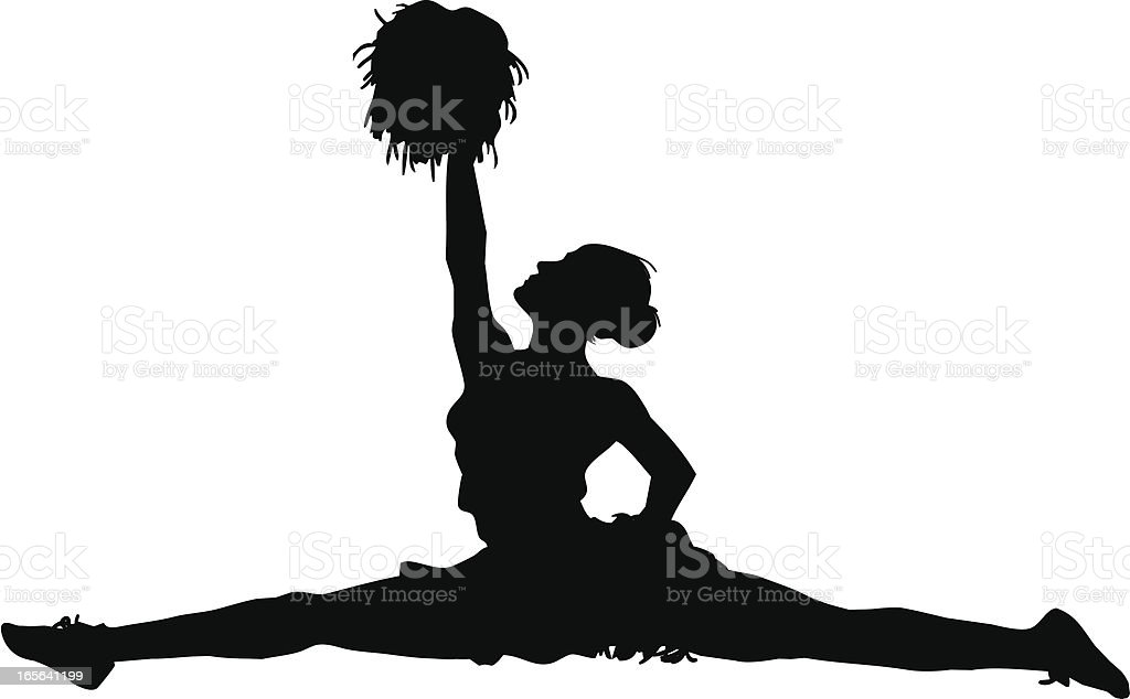 Cheerleader Splits royalty-free cheerleader splits stock vector art & more images of adult