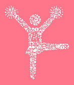 Cheerleader Women's Rights and Girl Power Icon Pattern