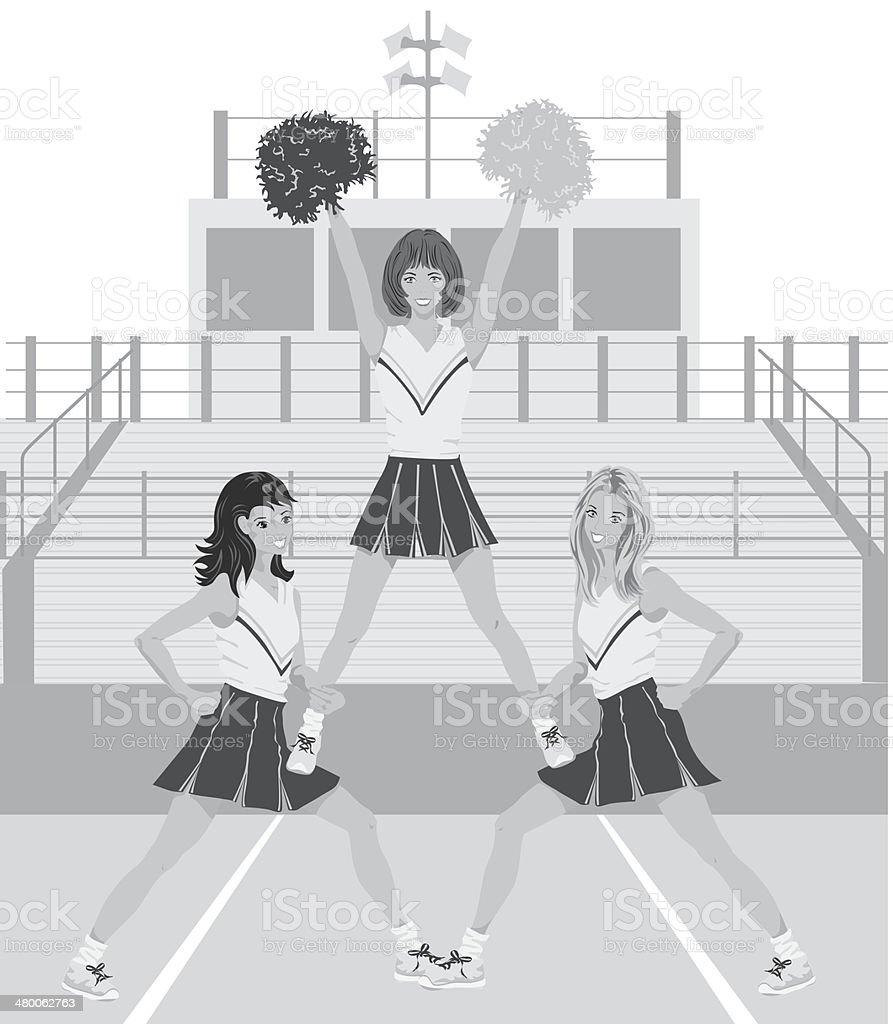 Cheerleaders10 vector art illustration