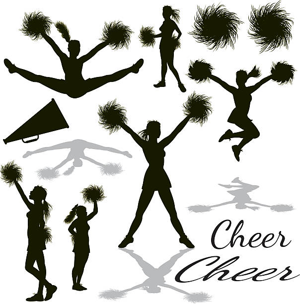 cheerleading vector top 60 pom poms clip art vector graphics and 5839
