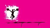 Cheerleading Grunge Pink Team Sport Background