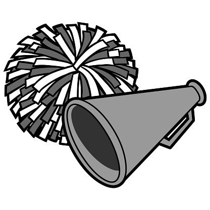 Cheerleading Icon Illustration