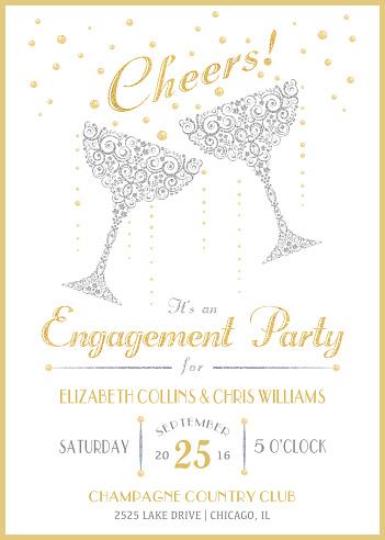 Cheers Champagne Invitation