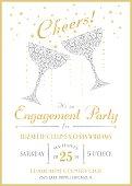 istock Cheers Champagne Invitation 496036095