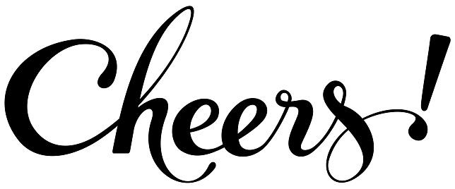 Cheers - custom calligraphy text