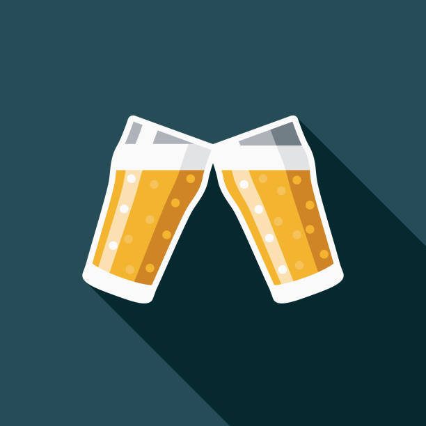 Cheers Design United Kingdom Icon A flat design United Kingdom themed icon with a long side shadow. Color swatches are global so it's easy to edit and change the colors. beer stock illustrations