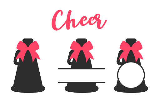 Cheers Megaphone Bundle Vector. isolate on white background.