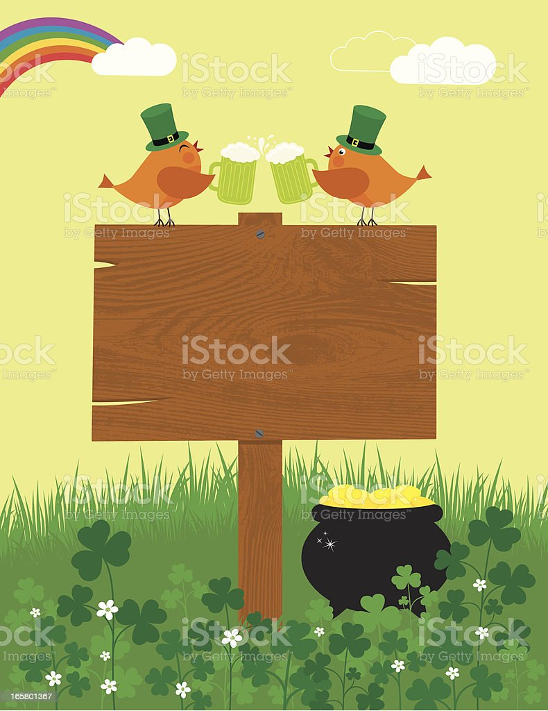 Cheers to St. Patrick's Day royalty-free cheers to st patricks day stock vector art & more images of animal