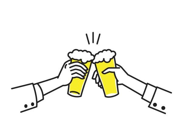 ilustrações, clipart, desenhos animados e ícones de cheers com cerveja - brinde