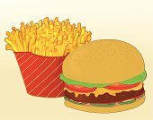 cheesburger and fries
