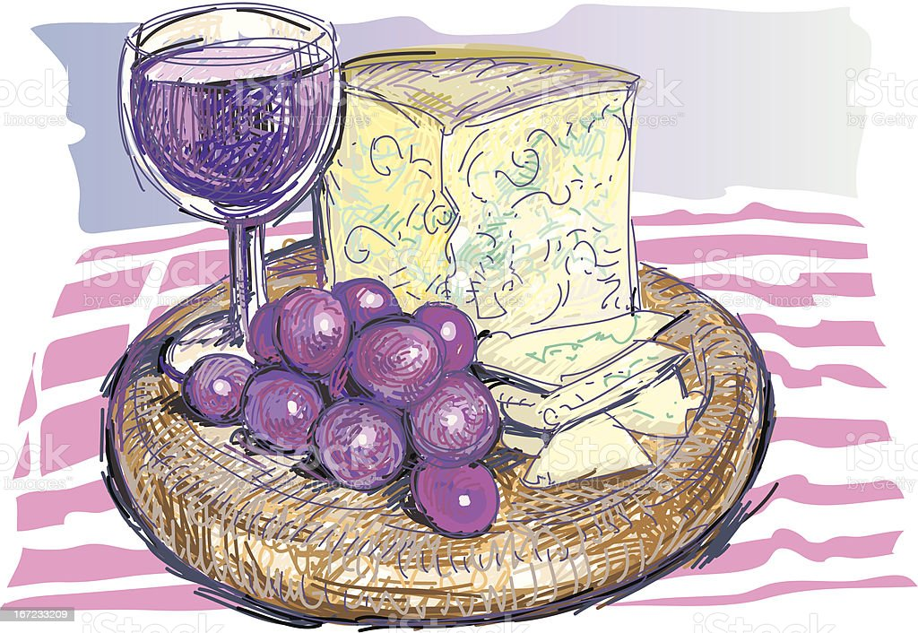 cheese and grapes royalty-free cheese and grapes stock vector art & more images of alcohol