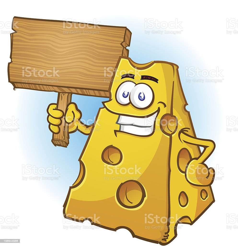 Cheese Character Holding Sign royalty-free cheese character holding sign stock vector art & more images of american culture