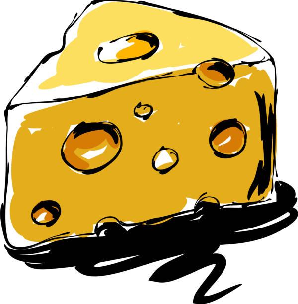 ilustrações de stock, clip art, desenhos animados e ícones de cheese drawing - queijo