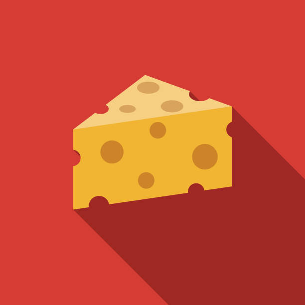 ilustrações de stock, clip art, desenhos animados e ícones de cheese flat design agriculture icon - queijo
