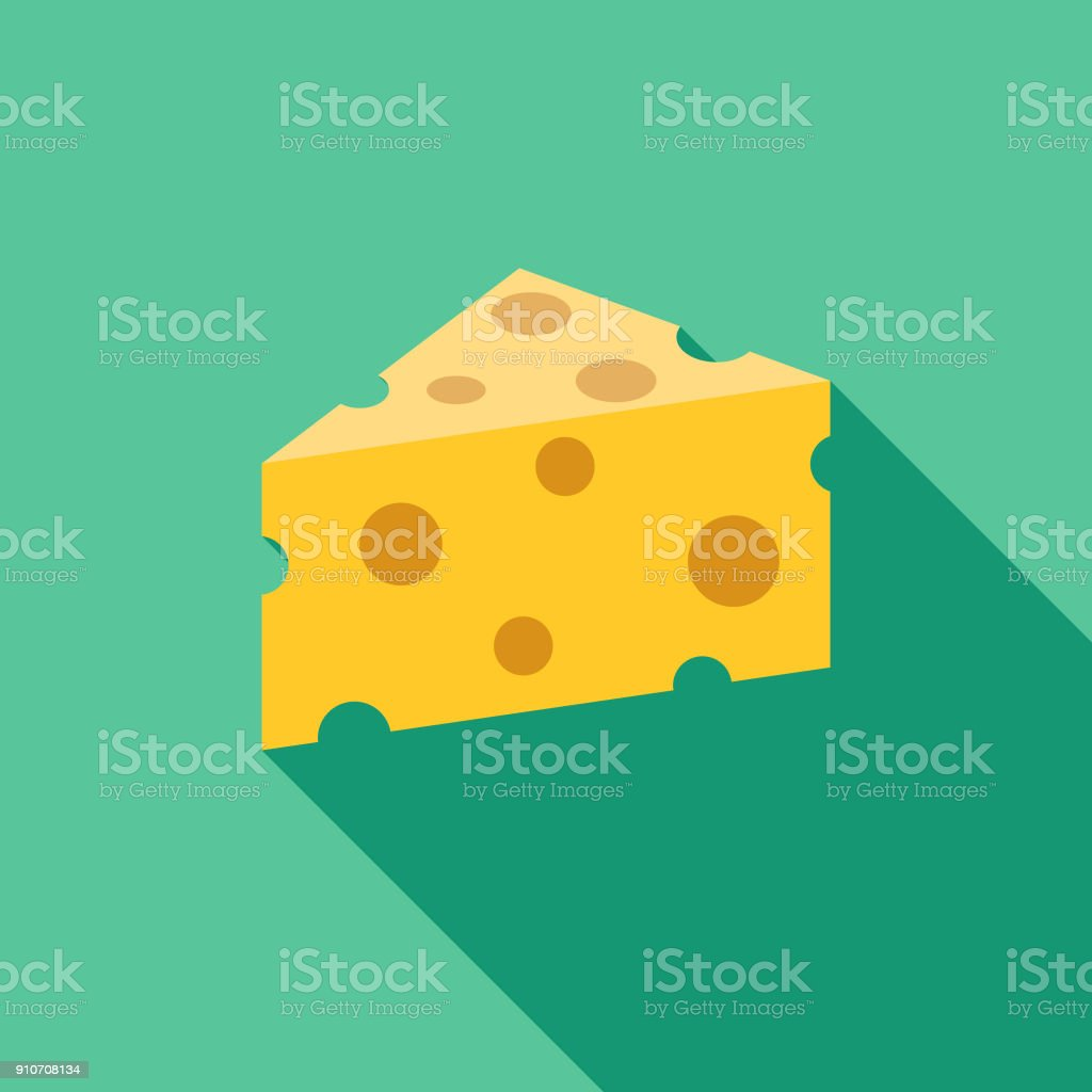 Cheese Flat Design BBQ Icon with Side Shadow - Векторная графика Барбекю роялти-фри