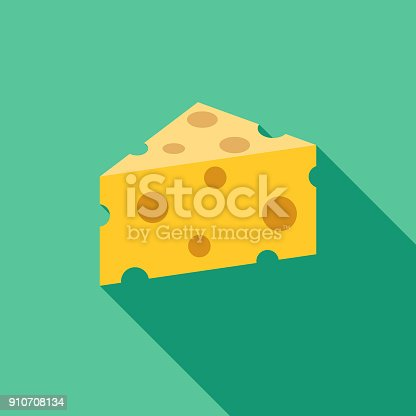 istock Cheese Flat Design BBQ Icon with Side Shadow 910708134