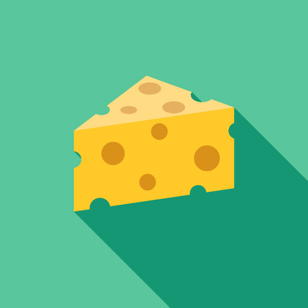 illustrazioni stock, clip art, cartoni animati e icone di tendenza di cheese flat design bbq icon with side shadow - formaggio