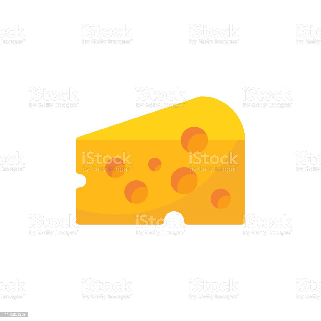 Cheese Flat Icon. Pixel Perfect. For Mobile and Web. - Векторная графика Абстрактный роялти-фри