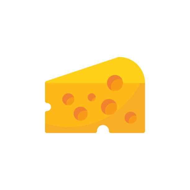 illustrazioni stock, clip art, cartoni animati e icone di tendenza di cheese flat icon. pixel perfect. for mobile and web. - formaggio