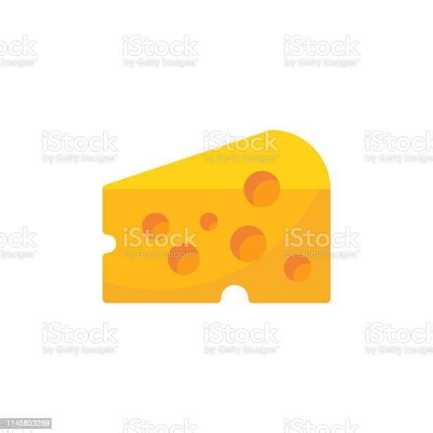 Cheese Flat Icon Pixel Perfect For Mobile And Web — стоковая векторная графика и другие изображения на тему Абстрактный