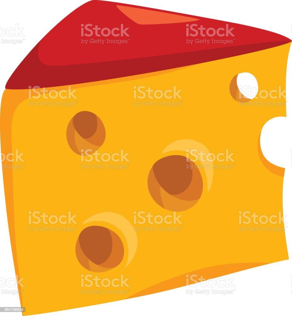 cheese food object illustration vector art illustration