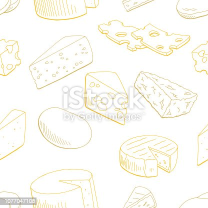 Cheese graphic yellow color seamless pattern sketch background illustration vector