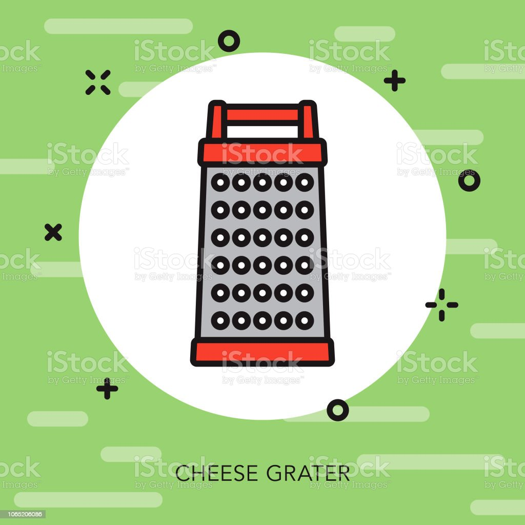 Cheese Grater Thin Line Italy Icon vector art illustration