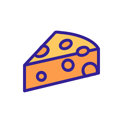 cheese icon vector. Isolated contour symbol illustration