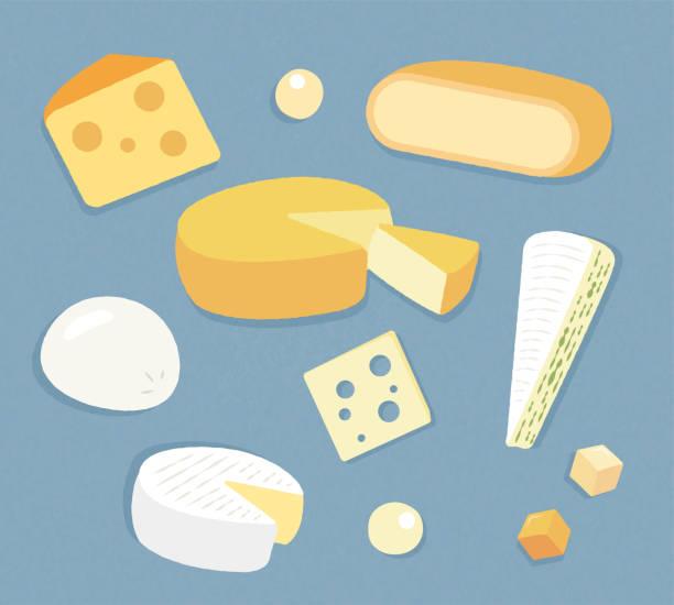 käse-illustration - raclette stock-grafiken, -clipart, -cartoons und -symbole