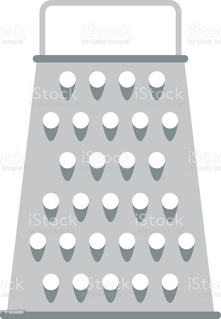 Cheese Kitchen Grater Metal Handle Utensil Equipment Flat Vector  Illustration Royalty Free Cheese Kitchen Grater