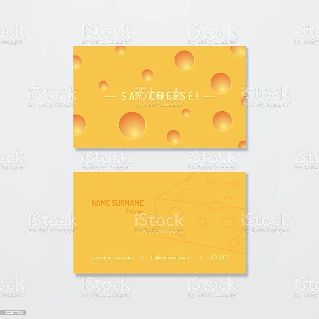 Fromage Electrique Carte De Visite Conception Cliparts Vectoriels Et